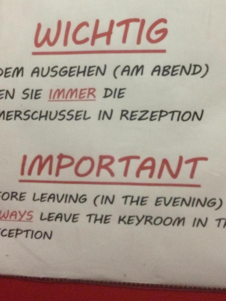 Gesehen von Muck Raymann aus Nürnberg in einem Hotel in Caorle, Italien.