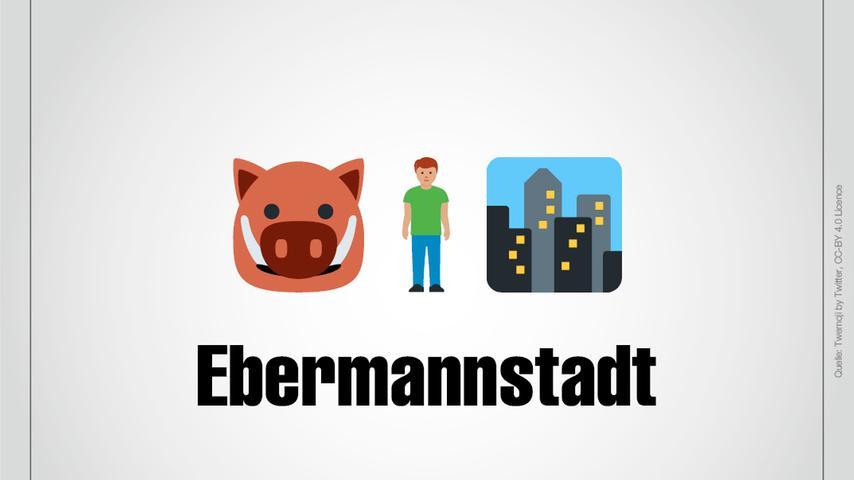 Ein Schwein, genauer gesagt ein Eber, ein Mann und eine Stadt: Das ist natürlich Ebermannstadt.