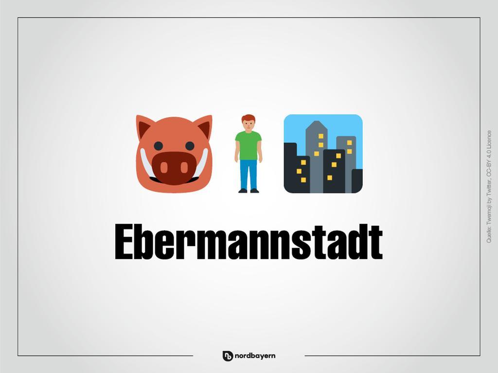 Motiv: Emoji-Rätsel Ortsteile im Landkreis Forchheim; Ebermannstadt; Bilderrätsel; Emoji; Smiley Foto: nordbayern.de