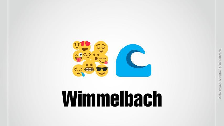 Ganz viele Smileys als Wimmelbild und ein Bach: Das ist Wimmelbach.