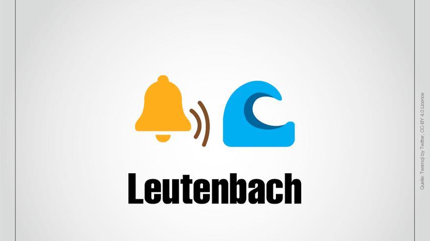 Eine Glocke, die läutet, und ein Bach: Das ist Leutenbach.