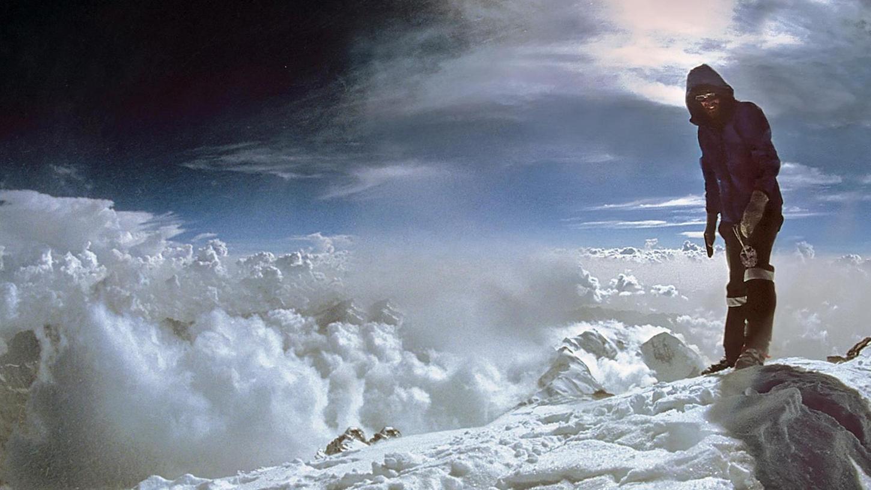 Reinhold Messner 1970 auf dem Gipfel des Nanga Parpat.