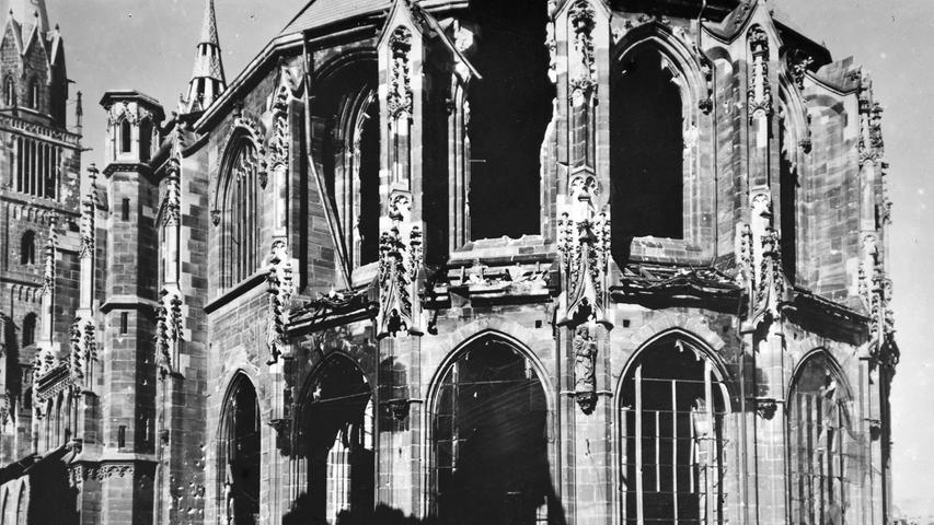 Auf dem Bild von 1947 erkennt man das Ausmaß der Zerstörung.