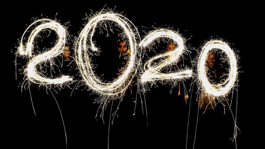 Mit Sternchen geschrieben: Hier wurde das neue Jahr mit Wunderkerzen begrüßt.