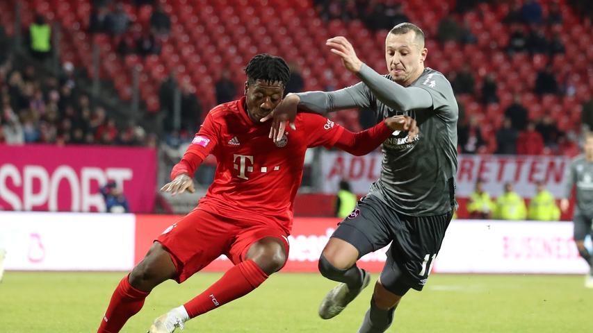 11.01.2020 --- Fussball --- Saison 2019 2020 --- Testspiel / Freundschaftsspiel: 1. FC Nürnberg FCN ( Club ) - FC Bayern München FCB --- Foto: Sport-/Pressefoto Wolfgang Zink / DaMa --- ....Bright Arrey Mbi (37, FC Bayern München FCB ) Adam Zrelak (11, 1. FC Nürnberg / FCN )