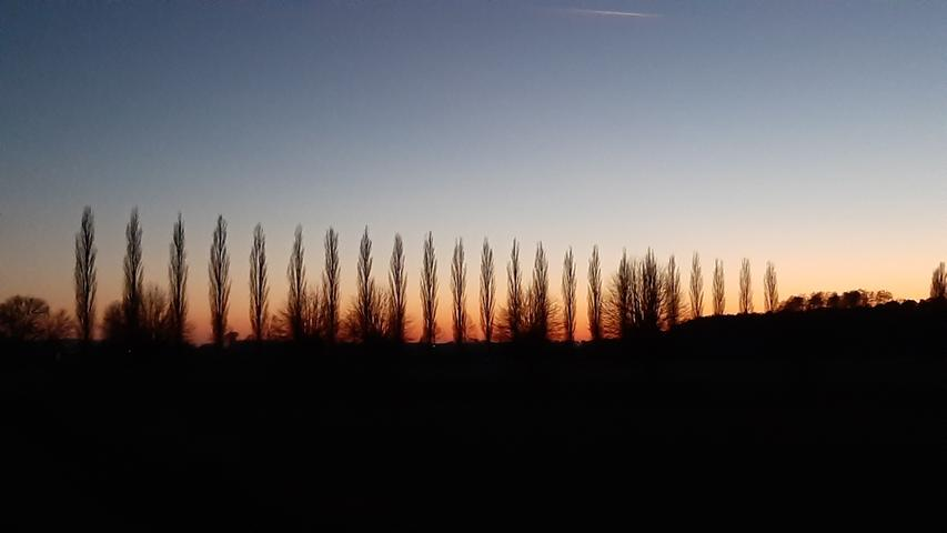 Sonnenuntergang am Baiersdorfer Baggersee.