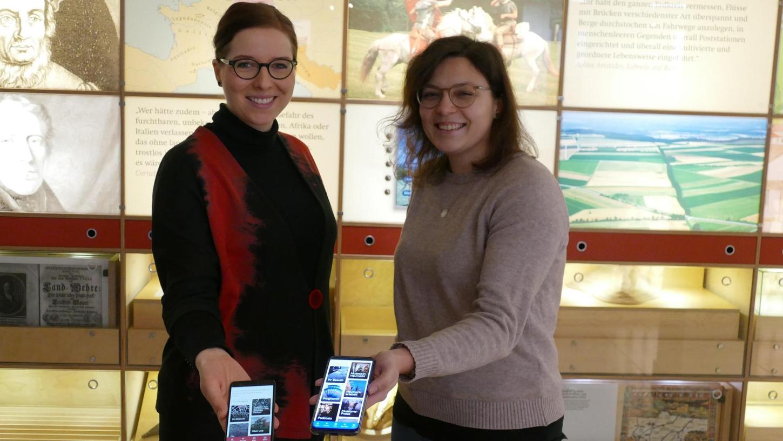 """Wiltrud Gerstner und Lisa Hegewald entwickeln gemeinsam für die Weißenburger Museen ein Konzept für """"digitales Storytelling"""". Als Erstes soll eine Smartphone-App für die Römischen Thermen entstehen, die nach dem Wunsch von Museumschef Dr. Mario Bloier am nächsten Welterbetag vorgestellt werden soll."""