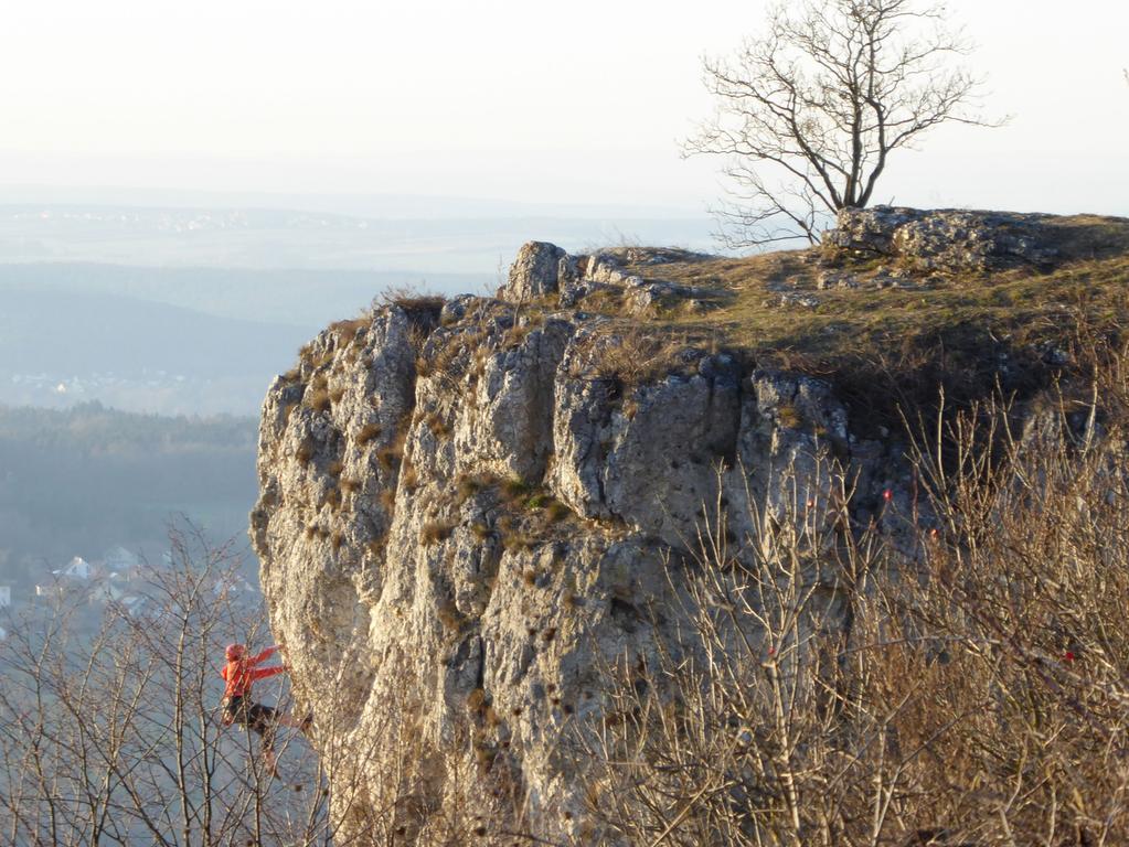 Ein Kraxler am Rodenstein.