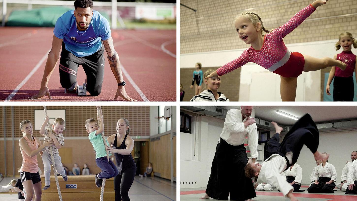 Leichtathletik beim LAC, Turnen, Klettern und Aikido: Nur vier von vielen sportlichen Facetten des TV Fürth 1860, die in dem Film von Regisseur Tim de Lange in fünf Minuten sichtbar werden.