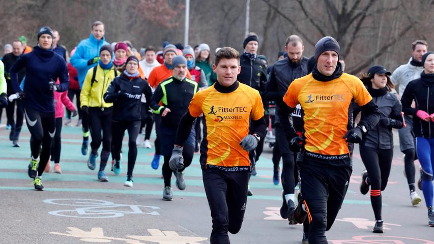 Nürnberg , am 25.01.2020..Ressort: Lokales Foto: Stefan Hippel ..Wöhrder See, Parkrun.. um den Wöhrder See, Jogger, Running, Fitness, morgens