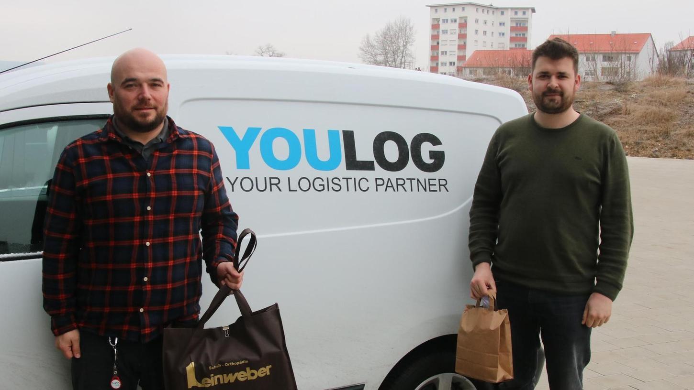 Das Weißenburger Logistik-Unternehmen Youlog ist der Auslieferer für das Online-Portal Altmühlfranken. Matthias Schübel (li.) und Mattgias Kögler (re.)finden das eine ebenso spannende wie herausfordernde Sache.