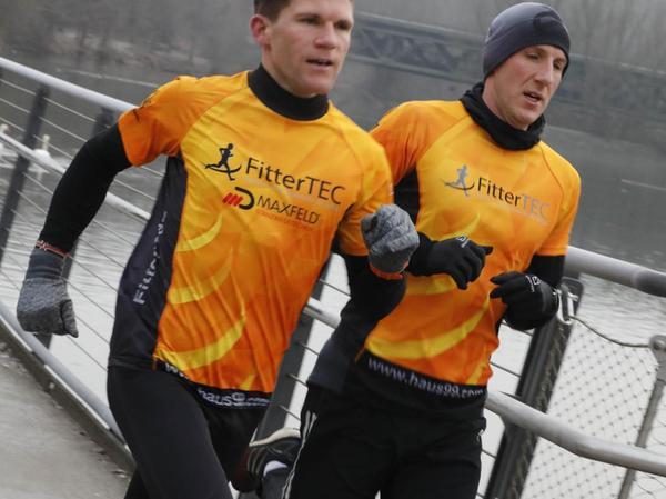 Kamen Seite an Seite als Erste ins Ziel: Sascha Lorenz (links) und Florian Lang.