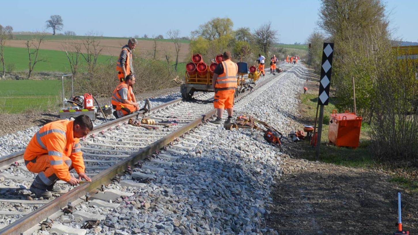 Für die Gartenschau in Wassertrüdingen (Landkreis Ansbach) wurde auch die Bahnstrecke der