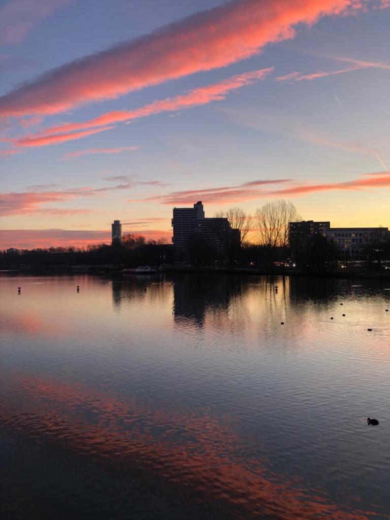 Sonnenaufgang am Wöhrder See.
