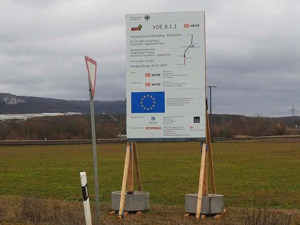 Viel zu sehen von den Bauarbeiten zwischen Forchheim und Eggolsheim ist nicht. Noch nicht.