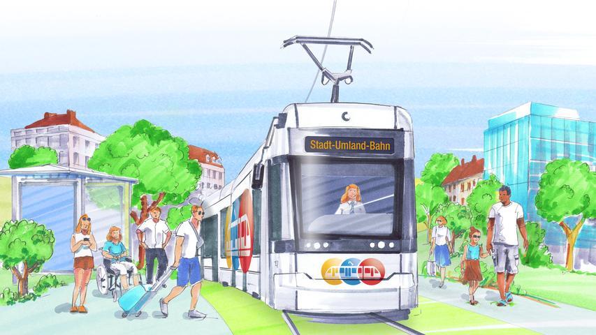 Die Stadt-Umland-Bahn ist das größte Verkehrs-Infrastrukturprojekt in der Metropolregion Nürnberg.