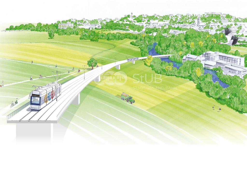 FOTO: ZV StUB, gesp. 1/2020..MOTIV: Visualisierung, Stadt-Umland-Bahn, StUB, Brücke im Bereich Wöhrmühlinse über den Regnitzgrund....ACHTUNG: Variante für Onlineverwendung mit Wasserzeichen, nur diese dafür nutzen!