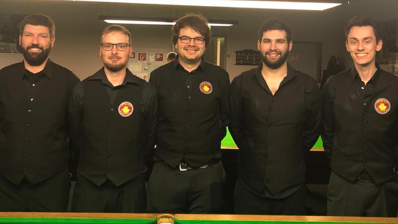 Das Quintett der Pool Factory hat den Absturz aus der 1. Bundesliga abgefangen und rückte nach den Kellerduellen nach oben.