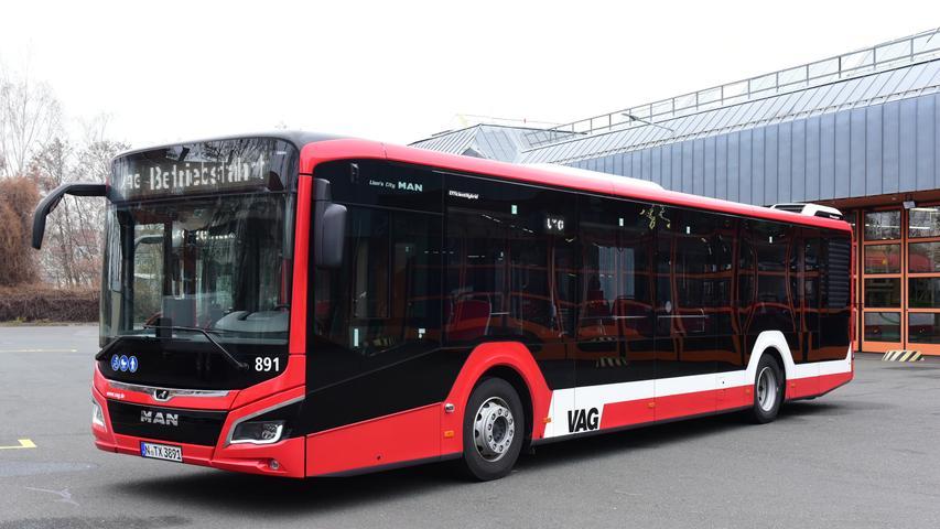 Geräumig und modern: So sehen Nürnbergs neue E-Busse aus