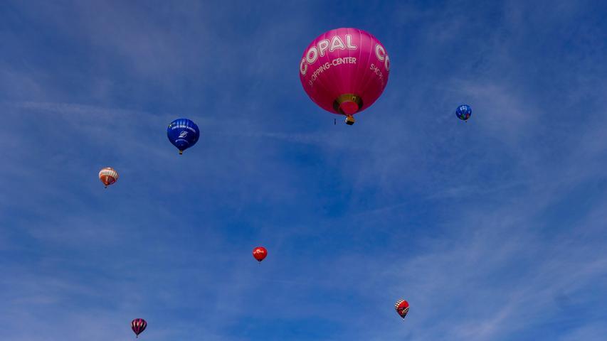 Ebermannstadt , am 08.02.2020..Ressort: Lokales Foto: Günter Distler..Burg Feuerstein, Fankenballoncup Start