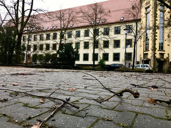 Auch in nächster Nähe zur Ritter-von-Traitteur-Schule sind Äste heruntergefallen.