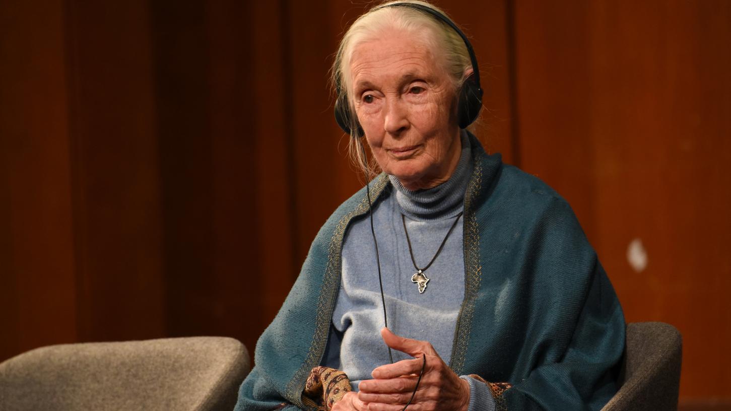 Die Britin Jane Goodall ist Primatenforscherin, Umweltaktivistin und UN-Friedensbotschafterin. Die 85-Jährige forderte an der FAU einen Wandel im Umgang mit Tieren und der Umwelt.