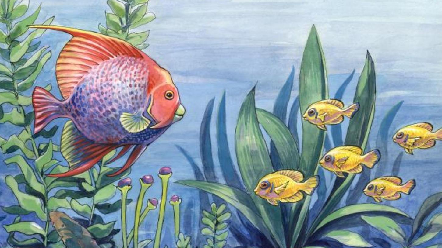 """""""Aquarium"""" heißt dieses Bild von Anton Atzenhofer, das noch bis 28. März in der Schau """"Tiefe Wasser"""" in der Slow Art Galerie am Weinmarkt zu sehen ist."""