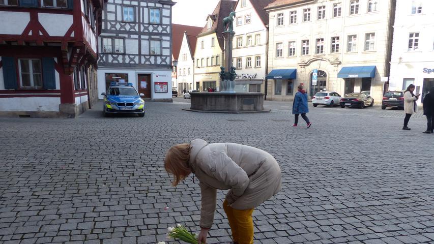 Forchheim: Menschenkette mit 300 Personen im Gedenken an die Opfer in Hanau