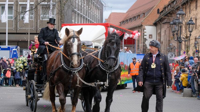 Nürnberg , am 23.02.2020..Ressort: Lokales Foto: Günter Distler..Nürnberger Faschingszug; durch die Innenstadt