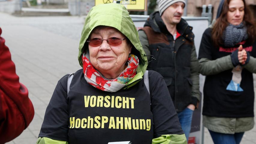 Nürnberg , am 26.02.2020..Ressort: Lokales Foto: Michael Matejka..Am Gesundheitsministerium, AWO Pflegedemo..