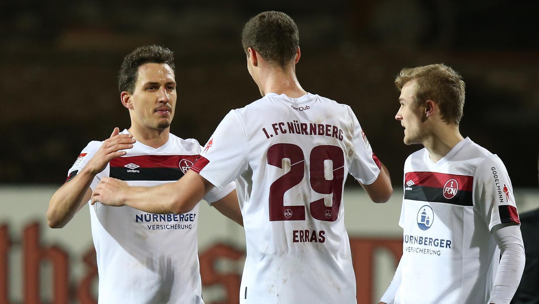 Der Kopf von Patrick Erras sicherte dem Club drei Punkte in Karlsruhe.