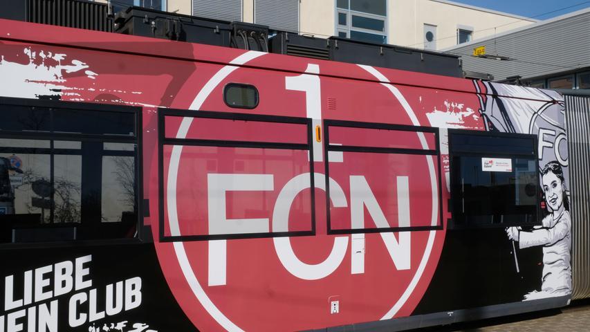 Nürnberg , am 02.03.2020..Ressort: Lokales Foto: Roland Fengler..VAG Betriebshof Heinrich-Alfes-Str. 1, Jungfernfahrt der Club-Straßenbahn ,....