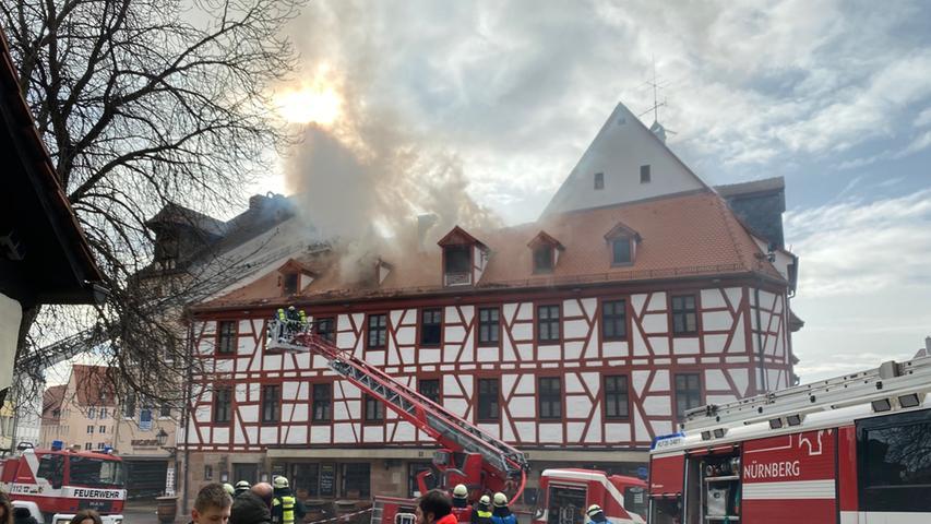 Dachstuhlbrand in Altstadt