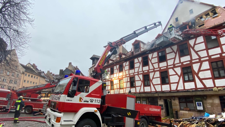 Die Schäden im Dachstuhl der Traditionsgaststätte