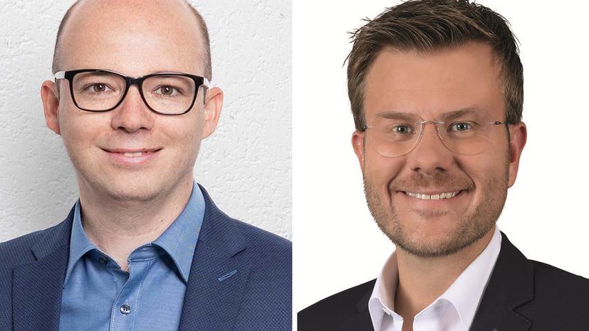 Kopf-an-Kopf-Rennen in der SPD-Hochburg Nürnberg: Im ersten Wahlgang konnte sich keiner der Bewerber klar durchsetzen. Am 29. März wurde die Stichwahl zwischen Thorsten Brehm (SPD, links) und Marcus König (CSU) entschieden: Der CSU-Mann steht künftig an Nürnbergs Spitze. Hier geht es zum kompletten Artikel.