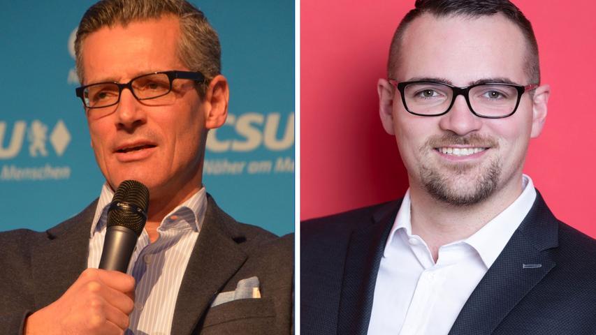 Eng ging es auch in Schwabach zu: Michael Fraas (CSU, links) und Peter Reiß (SPD) mussten ebenfalls in die Stichwahl. Am Ende gewann Reiß das Rennen. Hier geht es zum kompletten Artikel.