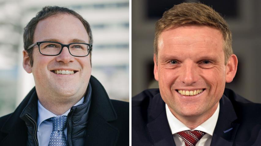 Der Amtsinhaber musste in die Stichwahl: In Erlangen traf Florian Janik (SPD, links) auf Jörg Volleth (CSU) und gewann die Wahl mit 54,5 Prozent der Stimmen. Hier geht es zum kompletten Artikel.