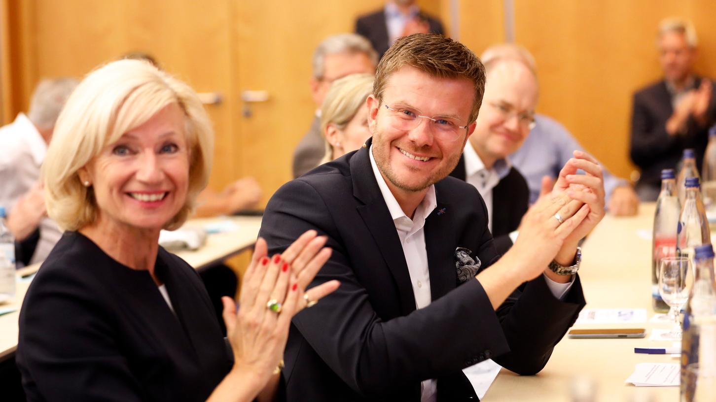 Marcus König und Julia Lehner bilden künftig das Bürgermeister-Duo der CSU in Nürnberg.