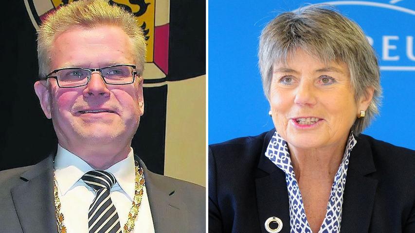 Knappes Rennen in Bayreuth. Thomas Ebersberger (CSU) löste letztlich Brigitte Merk-Erbe (Freie Wähler/Bayreuther Gemeinschaft) als neuer Bürgermeister ab. Hier geht es zum kompletten Artikel.
