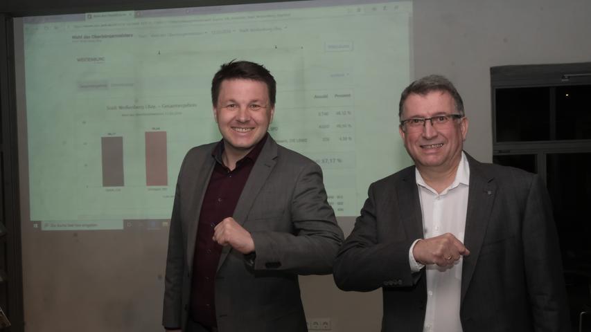 In Weißenburg lag Amtsinhaber Jürgen Schröppel nach dem Auszählen der Stimmbezirke knapp vor Herausforderer Tobias Kamm (CSU). Hier finden Sie den kompletten Artikel.