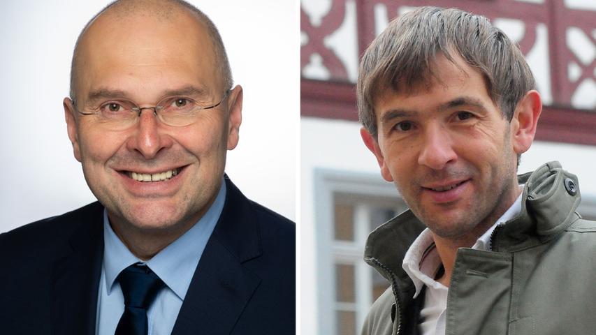 Sensation in Pegnitz: Bürgermeister Uwe Raab wurde abgewählt. Über seine Nachfolge entschieden die Pegnitzer in der Stichwahl. Dort trafen Werner Lappat (CSU, links) und Wolfgang Nierhoff von der Pegnitzer Gemeinschaft (PEG) aufeinander - letzterer entschied das Rennen für sich. Hier finden Sie den kompletten Artikel.