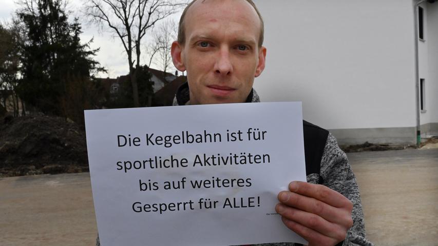 Für die Kegler ist die Saison vorerst beendet, auch für die Bundesliga-Spielerinnen des FSV Bruck. Maximilian Dürl hat in Eltersdorf die Anlage ebenfalls gesperrt.