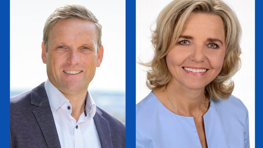 Jörg Volleth, Polizeibeamter (Listenplatz 1, wiedergewählt) - und  Alexandra Wunderlich, Diplom-Kauffrau (Listenplatz 2, wiedergewählt)