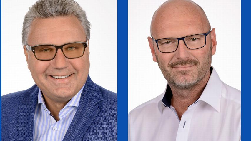 Matthias Thurek, selbstständiger Bankfachwirt (Listenplatz 7, wiedergewählt) und Harald Hüttner, selbstständiger Malermeister (Listenplatz 13, neu)