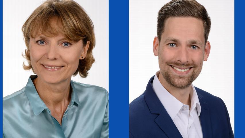 Irina Schmitz, Realschullehrerin (Listenplatz 8, neu) und  Martin Ogiermann, kath. Gemeindereferent (Listenplatz 11, wiedergewählt)