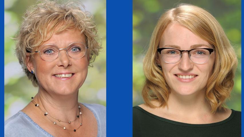 Susanne Lender-Cassens, Krankenschwester (Listenplatz 1, wiedergewählt) und  Tina Prietz, Projektleiterin (Listenplatz 3, neu)