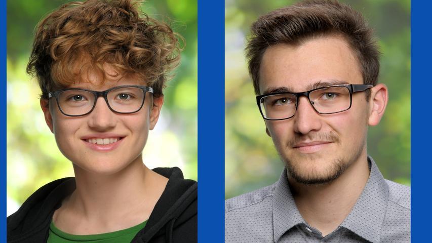 Andrea Winner, Studentin (Listenplatz 5, neu) und  Marc Urban, Freiwilligendienstleistender im soz. Jahr (Listenplatz  4, neu)