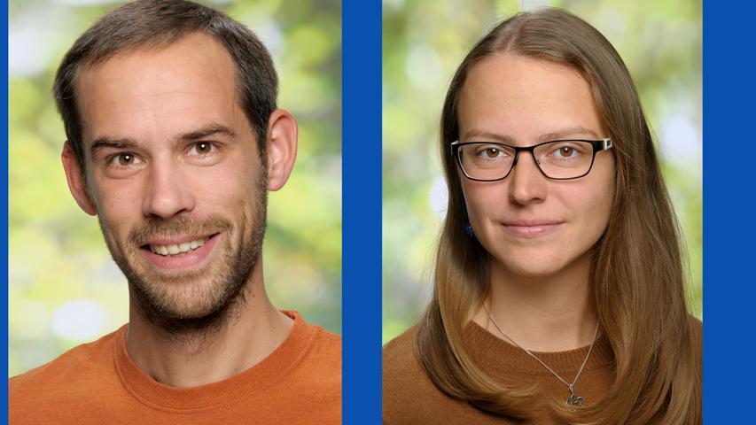 Dominik Sauerer, Historiker (Listenplatz 6, neu) und  Carla Ober, Studentin (Listenplatz 10, neu)
