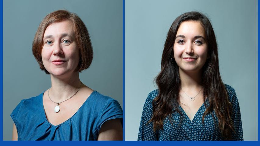 Sandra Radue, Lehrerin (Listenplatz 4, wiedergewählt) und  Eda Aydan Simsek, Studentin (Listenplatz 8, neu)