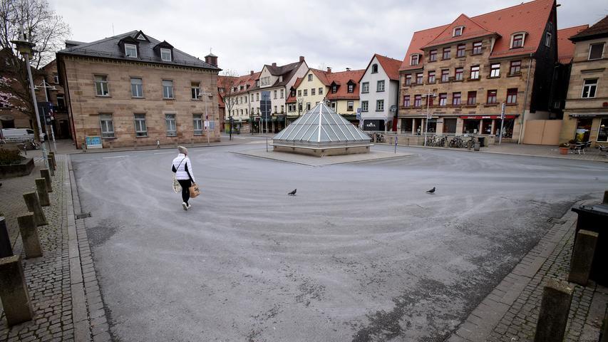 Corona-Krise: Leere Straßen und Plätze in Fürth